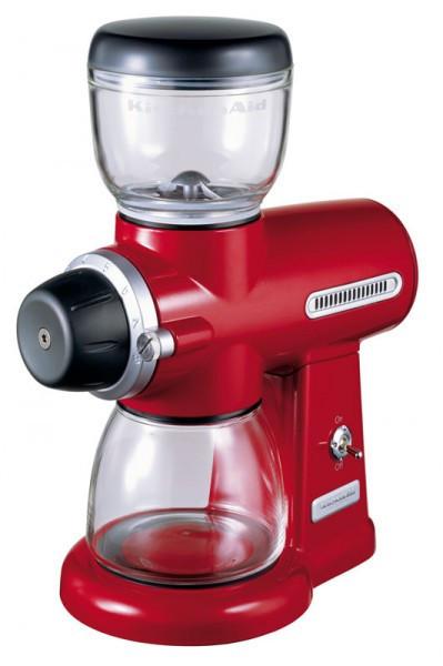 Кофемолка KitchenAid 5KCG100EER, электрическая жернового типа, красная