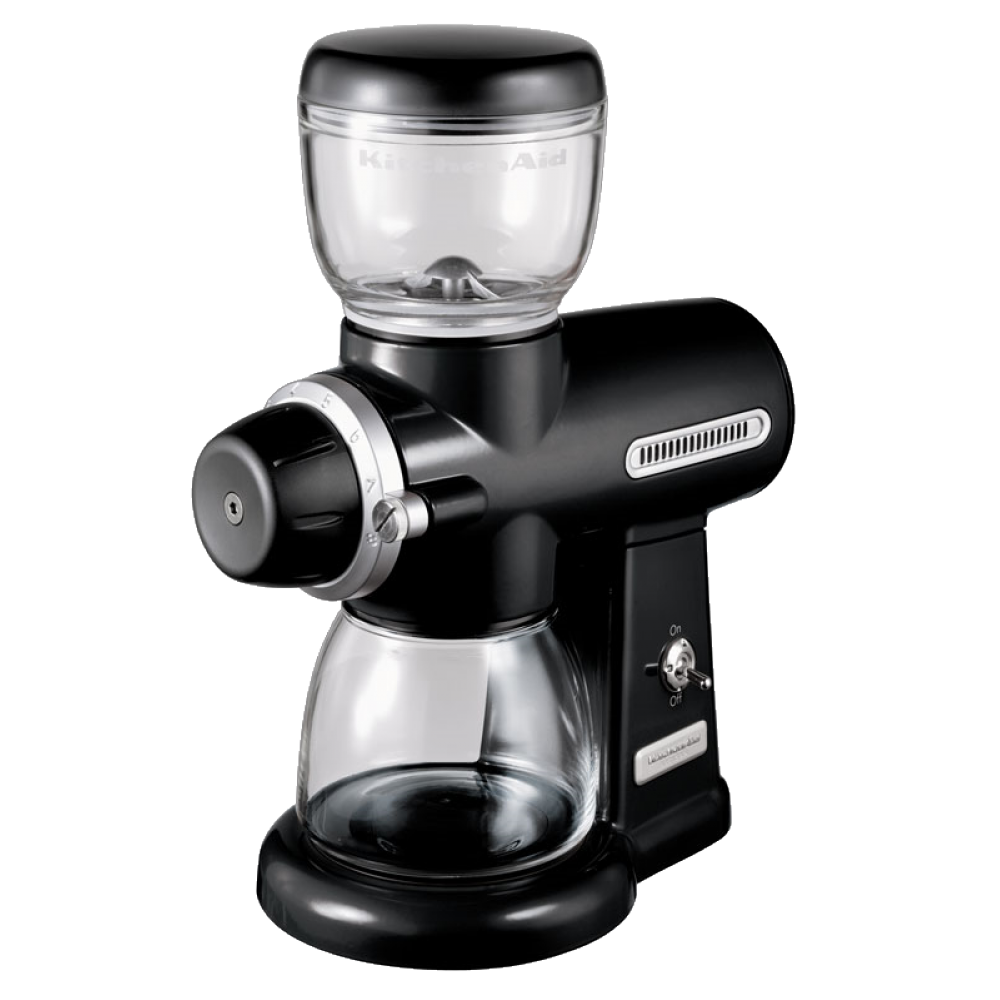 Кофемолка KitchenAid 5KCG100EOB, жерновая электрическая, чёрная