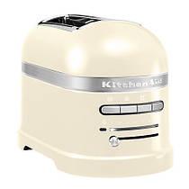 Тостер KitchenAid 5KMT2204EAC Artisan, на 2 хлібця, кремовий