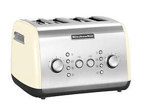 Тостер KitchenAid 5KMT421EAC, на 4 хлібці, кремовий