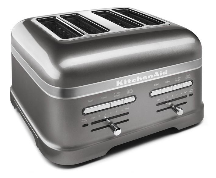 Тостер KitchenAid 5KMT4205EMS Artisan, на 4 хлебца, серебряный медальон