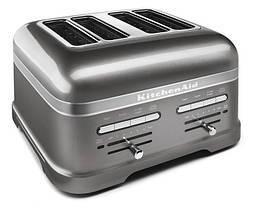 Тостер KitchenAid 5KMT4205EMS Artisan, на 4 хлібці, срібний медальйон