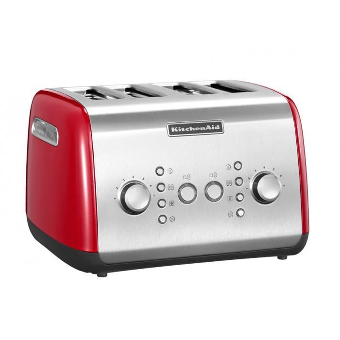 Тостер KitchenAid 5KMT421EER на четыре хлебца красного цвета