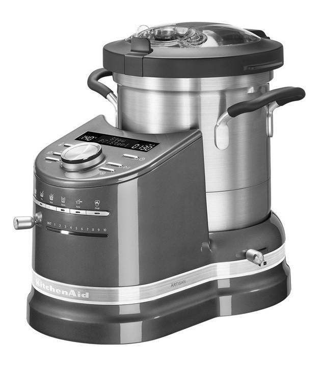 Универсальный кухонный комбайн - процессор Китчен Эйд KitchenAid Artisan 5KCF0103EMS, серебряный мед