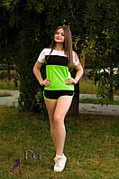 Летний трикотажный спортивный костюм свободного силуэта