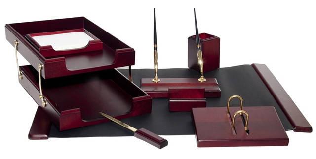 Подарочный набор настольный из дерева BESTAR 8259XDU красное дерево (8 предметов), фото 2