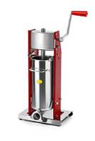 Вертикальный шприц для начинки колбас ручной Tre spade MOD. 5/V, цвет красный
