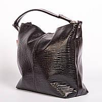 Черная лаковая сумка женкая мешок №1371bln