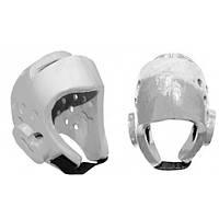 Шлем для таеквондо PU BO-2018-W WTF (р-р S-XL, белый)