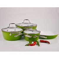 Набор кастрюль + сковорода и ковш 7 предметов Hilton 2450 FP