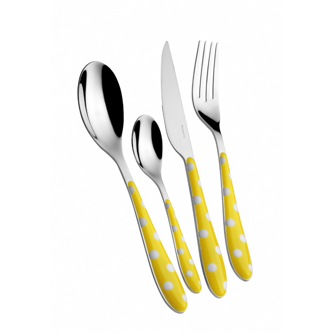 Набор  Casa Bugatti PS6U-014F50 из вилок,ложек и ножей,цвет желтый
