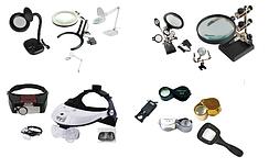 14-00. Увеличительные стекла, лампы-лупы, лампы настольные, защитные очки