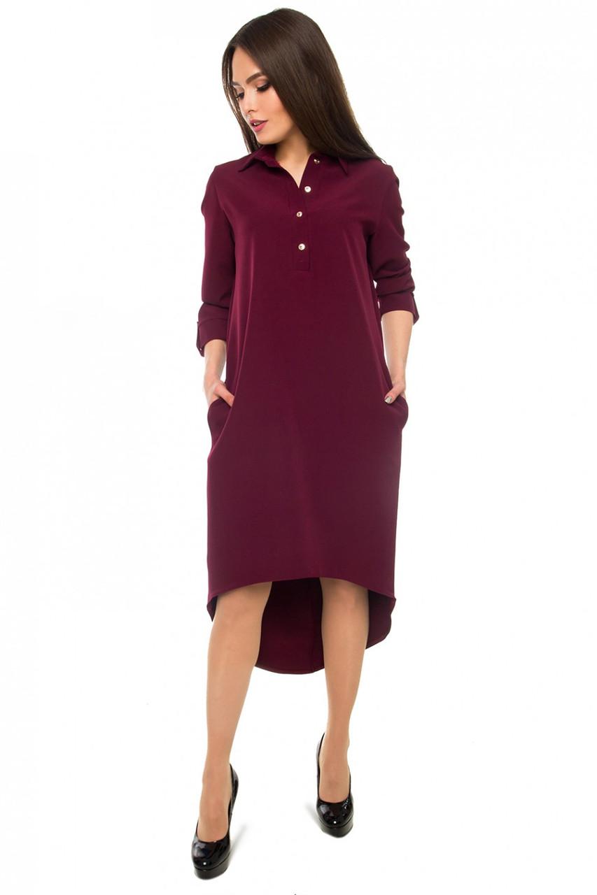 Стильное платье-рубашка ( в расцветках)