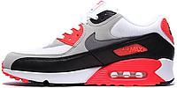 """Мужские кроссовки Nike Air Max 90 OG """"Infrared"""" (в стиле Найк Аир Макс 90) серые"""
