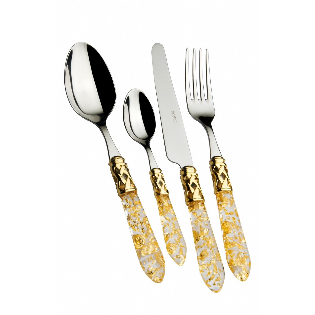 Набор столовых принадлежностей  Casa Bugatti  ALD1G-C4250 , цвет прозрачный с золотистыми частицами