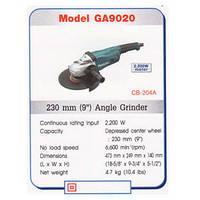 Болгарка Makita GA 9020 2200w ORIGINAL + Наушники шумопонижающие Интертул SP-0024 в Подарок