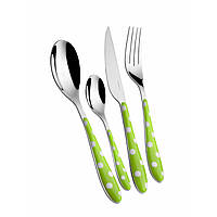 Набор Casa Bugatti PSMU-014F50 из ножей, вилок и ложек, цвет зеленый