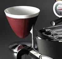 Кухонные весы в кожаной отделке  Casa  Bugatti 56-UMABP3 ,цвет бордовый