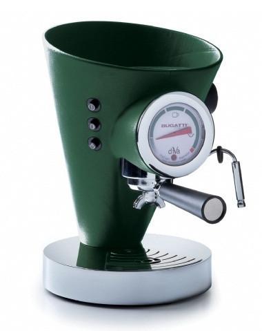 Кофемашина в кожаной отделке Casa Bugatti 15-DIVABP4,цет зеленый