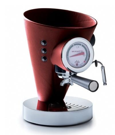 Кофемашина в кожаной отделке  Casa Bugatti 15-DIVABP3 ,цет  бардовый