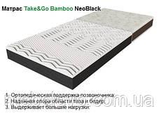 Односпальный матрас NeoBlack / НеоБлек 80х190 ЕММ h16 Take&Go bamboo 5D мемори беспружинный 130кг, фото 2