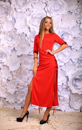 Платье женское шнуровка