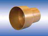 Патрубок для соединения раструба трубы ПВХ с чугунной трубой