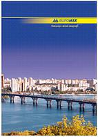 Книга учета 96 листов, твердая обложка, ламинированная, офсет, линия. BuroMax