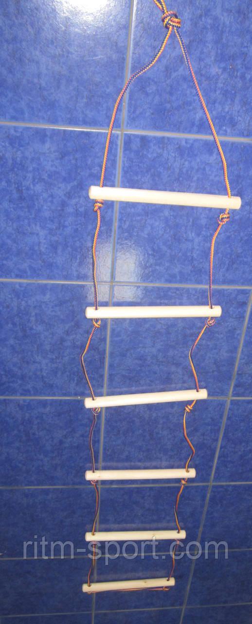 Лестница веревочная навесная 6 ступеней, 160 см