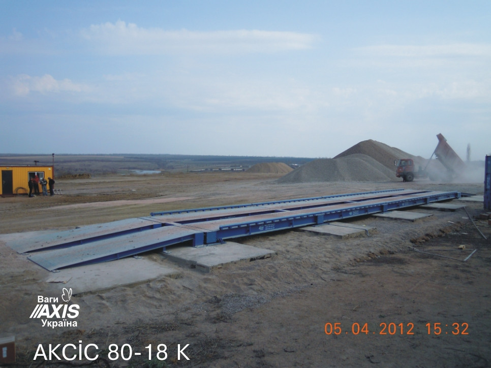 Весы автомобильные AXIS 80-22-К-С 80 тонн безфундаментные 22м