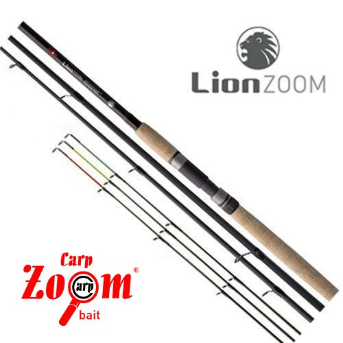 Фидер LionZoom Feeder rod, 390cm, 50-100g
