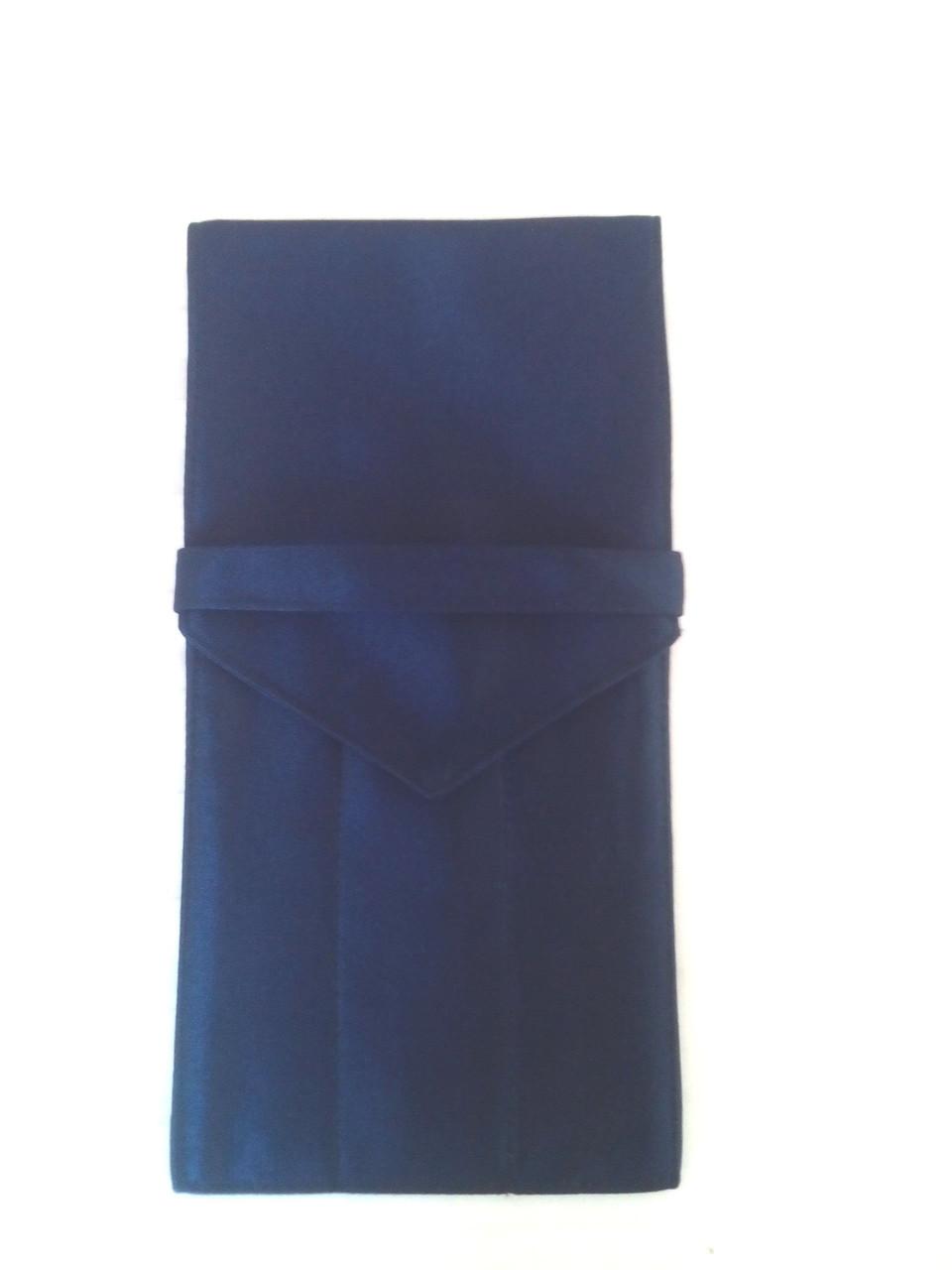Куверт (конверт) закрытый на 3 прибора,ткань Дукат синий