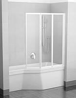Шторка-гармошка для ванны Ravak VS3 130 белый rain (795V010041)