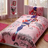 Подростковое полуторное постельное бельё, TAC Disney Winx Holiday Bloom, Турция
