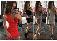 Стильное короткое платье с люверсами modastar 1566
