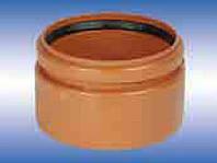 Патрубок для соединения трубы ПВХ с раструбом керамической трубой