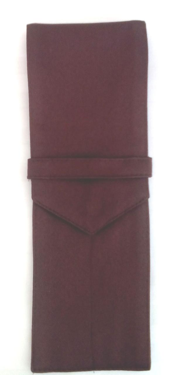 Куверт (конверт)закрытый на 2 прибора,ткань Дукат коричневый.