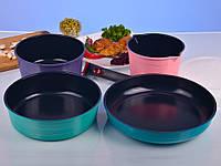 Набор кухонной посуды со съемной ручкой 7 предметов Hilton 2452 FP
