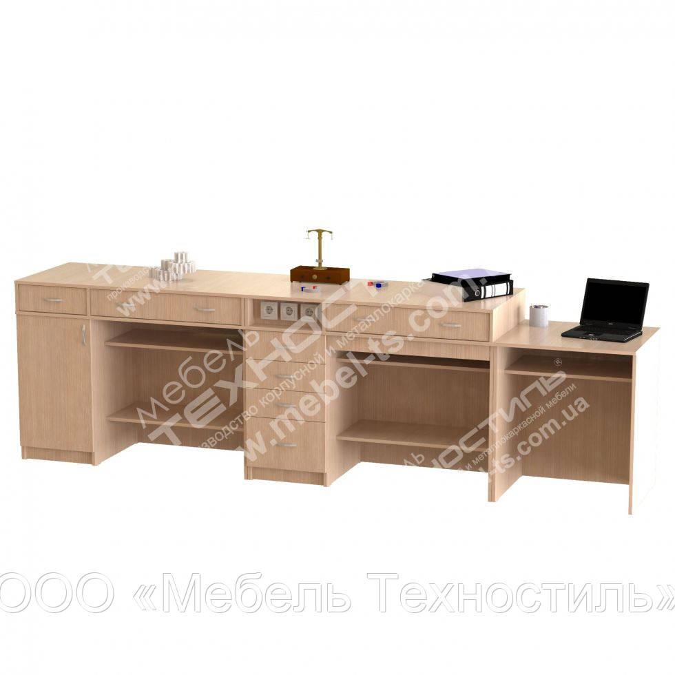 Стол демонстрационный для кабинета физики 3050х600х900 мм без сборки - ООО «Мебель Техностиль» в Одессе