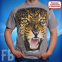 Мужская футболка Leopard (светится в темноте)