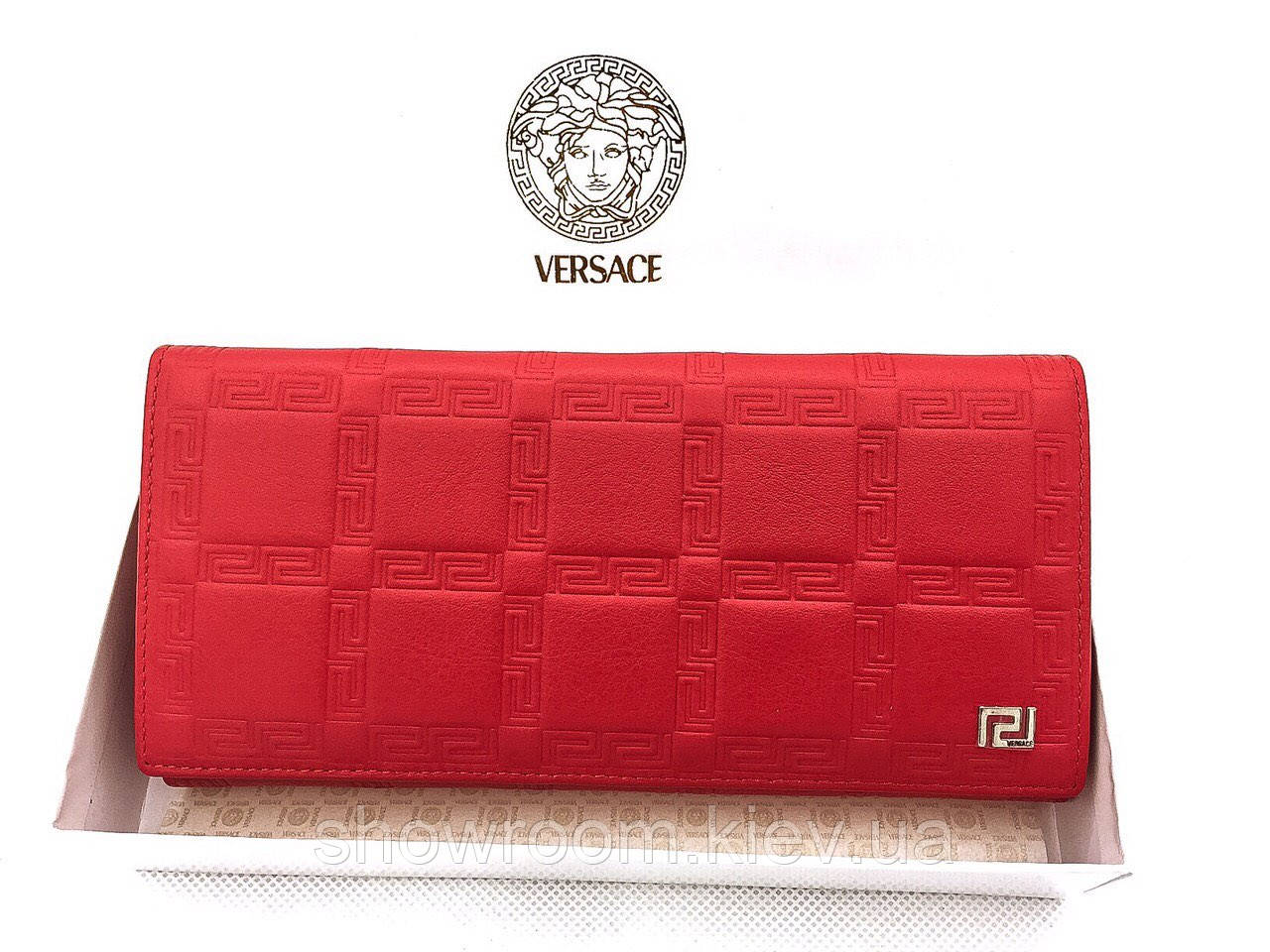 Женский кошелек в стиле Versace (V-3801) red