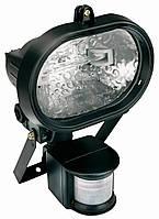 Электрические приборы Прожектор (светильник) галогеновый, овальный, 150 Вт, с детектором движения 180° (94W046)