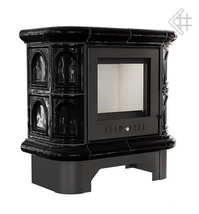 Кафельная (изразцовая)  печь камин  KRATKI WK440 5 глянцевая черная , фото 2
