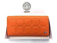 Женский кошелек Versace (V-3802) orange