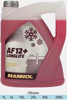 Антифриз красный Mannol AF12+ ( -40°C) 5 л.