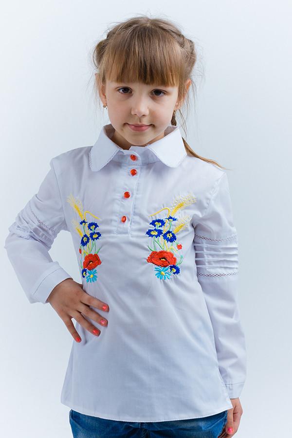 Детская рубашка вышиванка на девочку