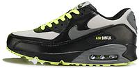 Мужские кроссовки Nike Air Max 90 (в стиле Найк Аир Макс 90) черные