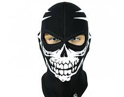 Балаклава, термомаска черная Radical Skull S1 с рисунком Черепа