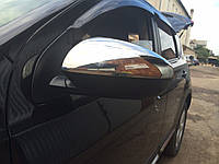 Накладки на зеркала Omsa (нерж.) 2 шт. Nissan Qashqai