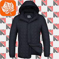 Классическая осенняя куртка Braggart - 1250 тем.синий - белый